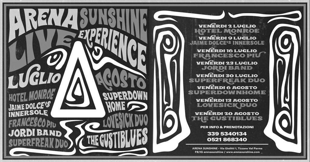 Programma Arena Sunshine Live Experience